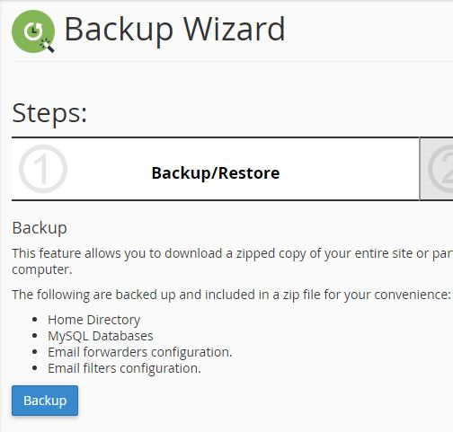 how to backup your website cpanel screenshot 2
