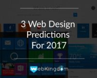 Cover For 3 Web Design Predictions For 2017